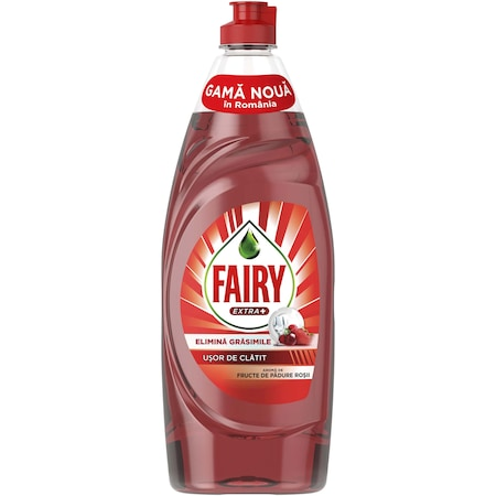 Detergent de vase Fairy Extra+ Fructe de padure rosii 650 ml