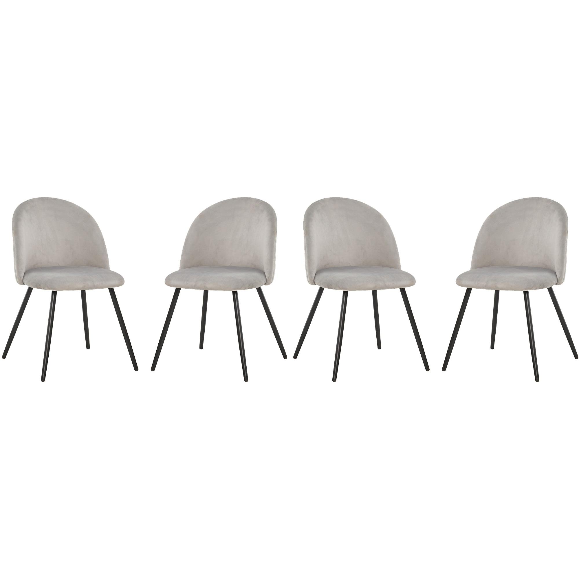 Fotografie Set 4 scaune Kring Davis, material textil/metal, Gri