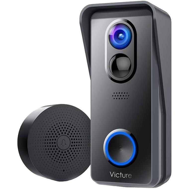 Fotografie Sonerie inteligenta cu camera Victure VD300, Wireless, 1080P HD, Motion Detection, Convorbire bidirectionala, unghi larg, Control aplicatie