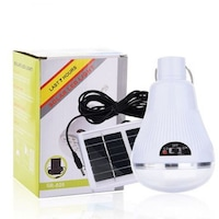 Соларна лампа за къмпинг Solar Led Light, Соларен панел, Акумулатор, Бял