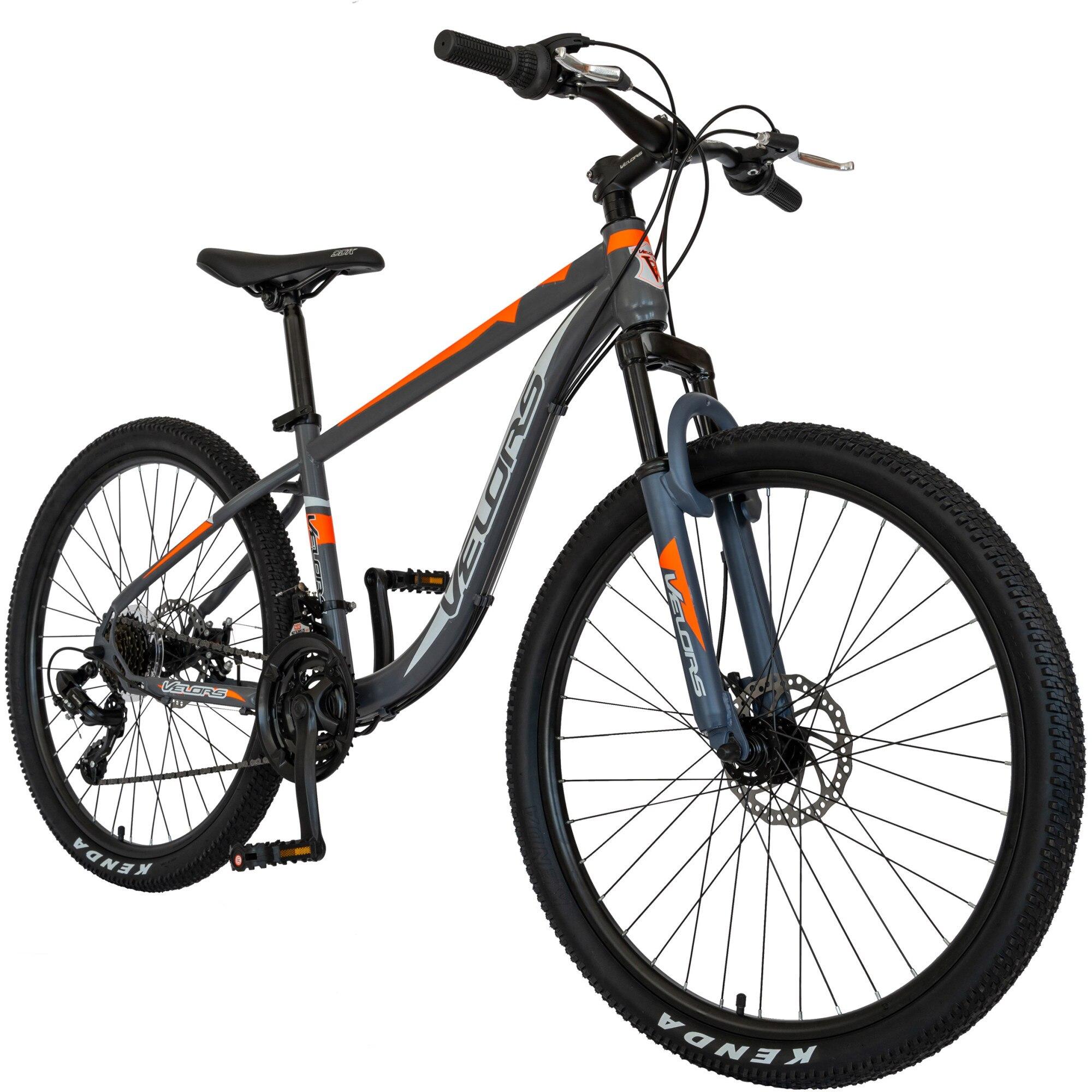 """Fotografie Bicicleta MTB Velors V2611B 26"""", frana disc, transmisie Shimano, gri/portocaliu/alb"""