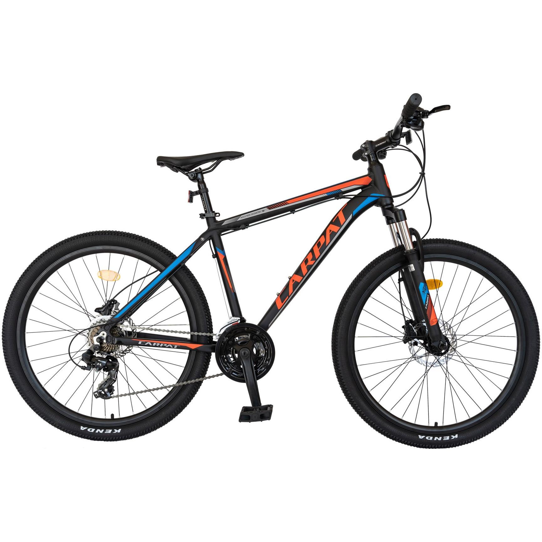 "Fotografie Bicicleta MTB Carpat C2681H 26"", frana Hidraulica pe disc, transmisie full Shimano, 26"", negru/rosu"