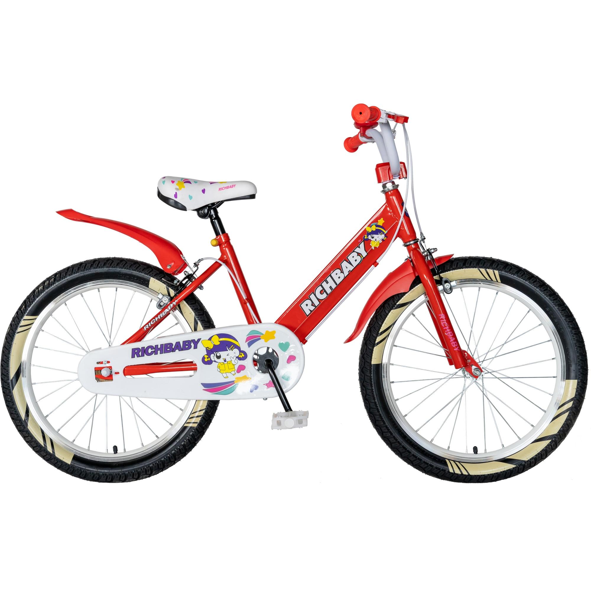 """Fotografie Bicicleta copii 20"""" Rich R2008A, pentru fete, rosu"""