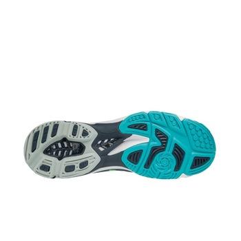 Mizuno Wave Lightning Z4 teremcipő, kék/fehér/zöld, 42,5-es