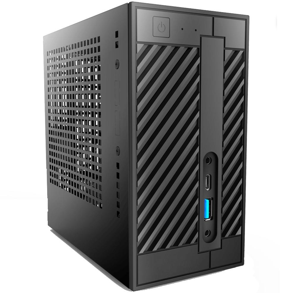 Fotografie Mini PC Serioux cu procesor AMD Ryzen 5 3400G pana la 4.20GHz, 16GB DDR4, 500GB SSD M.2 PCIe, Wi-Fi, Radeon™ Vega 11
