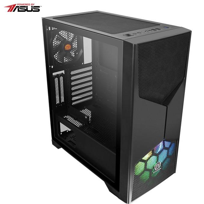 Fotografie Sistem Desktop PC Gaming Serioux Powered by ASUS cu procesor AMD Ryzen 9 3900X pana la 4.60GHz, 16GB DDR4, 1TB SSD M.2 PCIe, Wi-Fi, GeForce GTX 1660 Super™ 6GB GDDR6