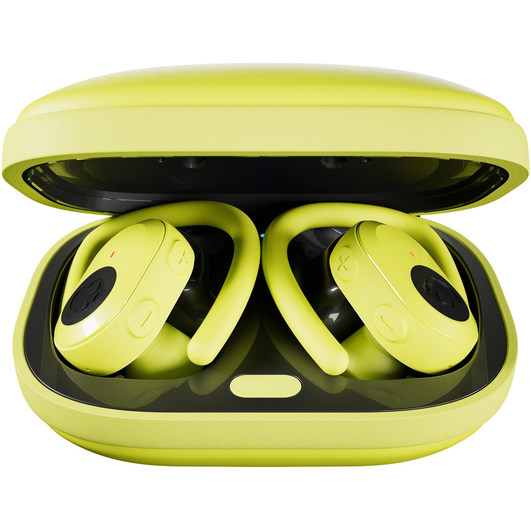 Fotografie Casti Audio Sport In Ear Skullcandy Push Ultra, True Wireless, Bluetooth, Noise cancelling, Microfon, Autonomie 6 ore, Electric Yellow
