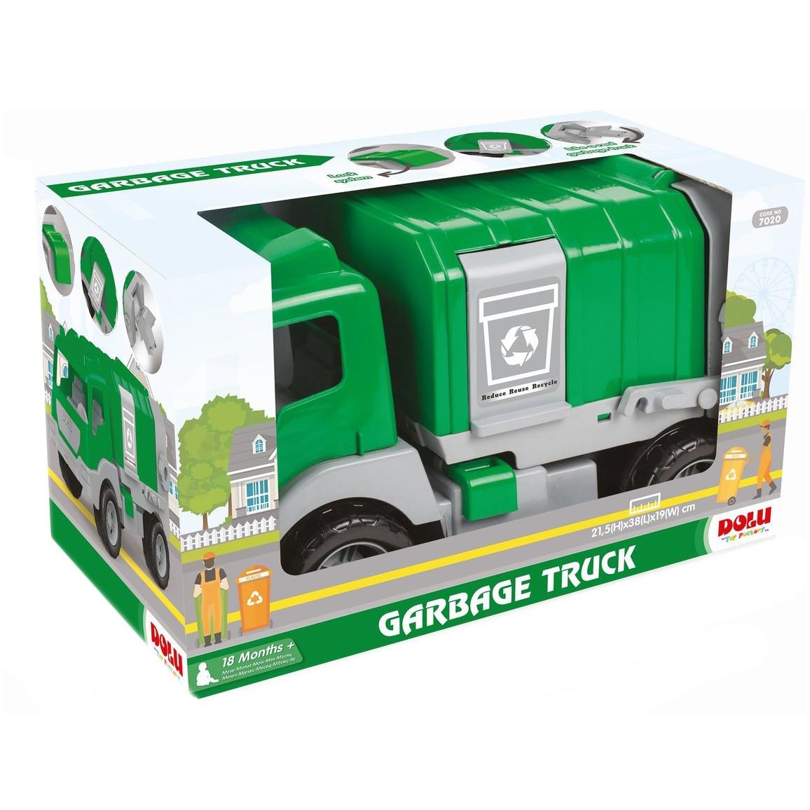 Fotografie Camion de gunoi Dolu, verde, 43 cm