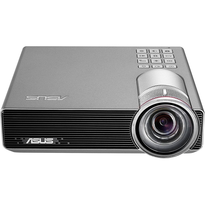 Fotografie Videoproiector Asus P3E, portabil, DLP LED, 3D ready, WXGA 1280x800, HDMI, MHL, D-sub, argintiu