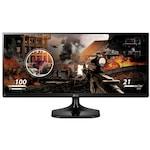 "Монитор Gaming LG 25"", IPS, UltraWide HD, 75 Hz, 5 ms, HDMI, Flicker Safe, 25UM58-P, Черен"