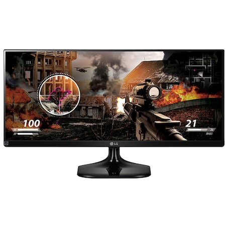 "LG 25UM58-P LED Monitor, 25"", IPS, UltraWide, 21:9, 2560 x 1080, 5ms, HDMI, Fekete"