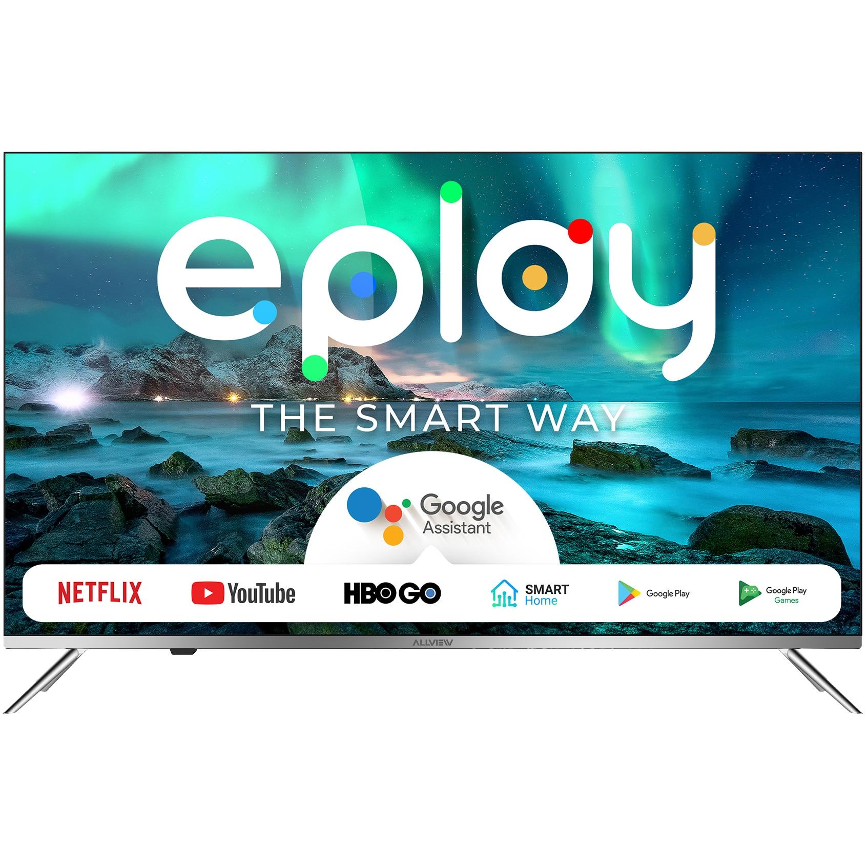 Fotografie Televizor Allview 55ePlay6100-U, 139 cm, Smart Android, 4k Ultra HD, LED, Clasa A