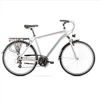 Kerékpár Romet Wagant 1 28 R21 L Me 2020 ezüst piros férfi trekking