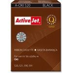 Лента за принтер ActiveJet A-OKI520 Nylon HD лента, 8 mm x 1.6 m, Черна