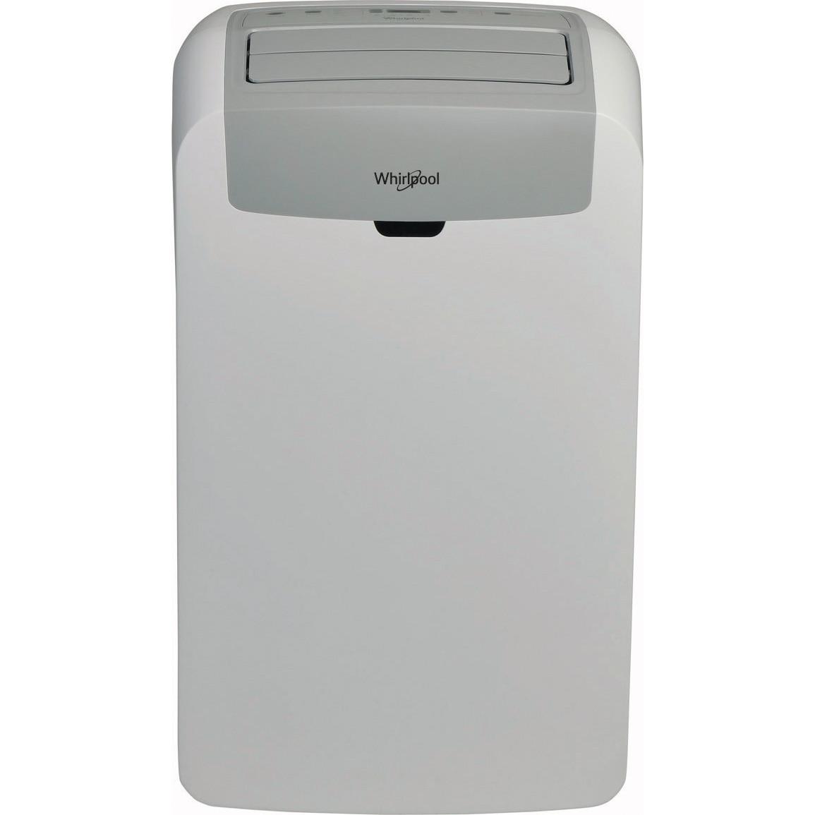 Fotografie Aparat de aer conditionat portabil Whirlpool 12000 BTU, Clasa A, filtru Hepa, kit fereastra inclus, Alb