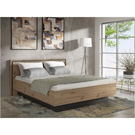 Pat Kring Ikast, 179 x 93,5 x 209 cm, suprafata dormit 160x200cm , culoare stejar