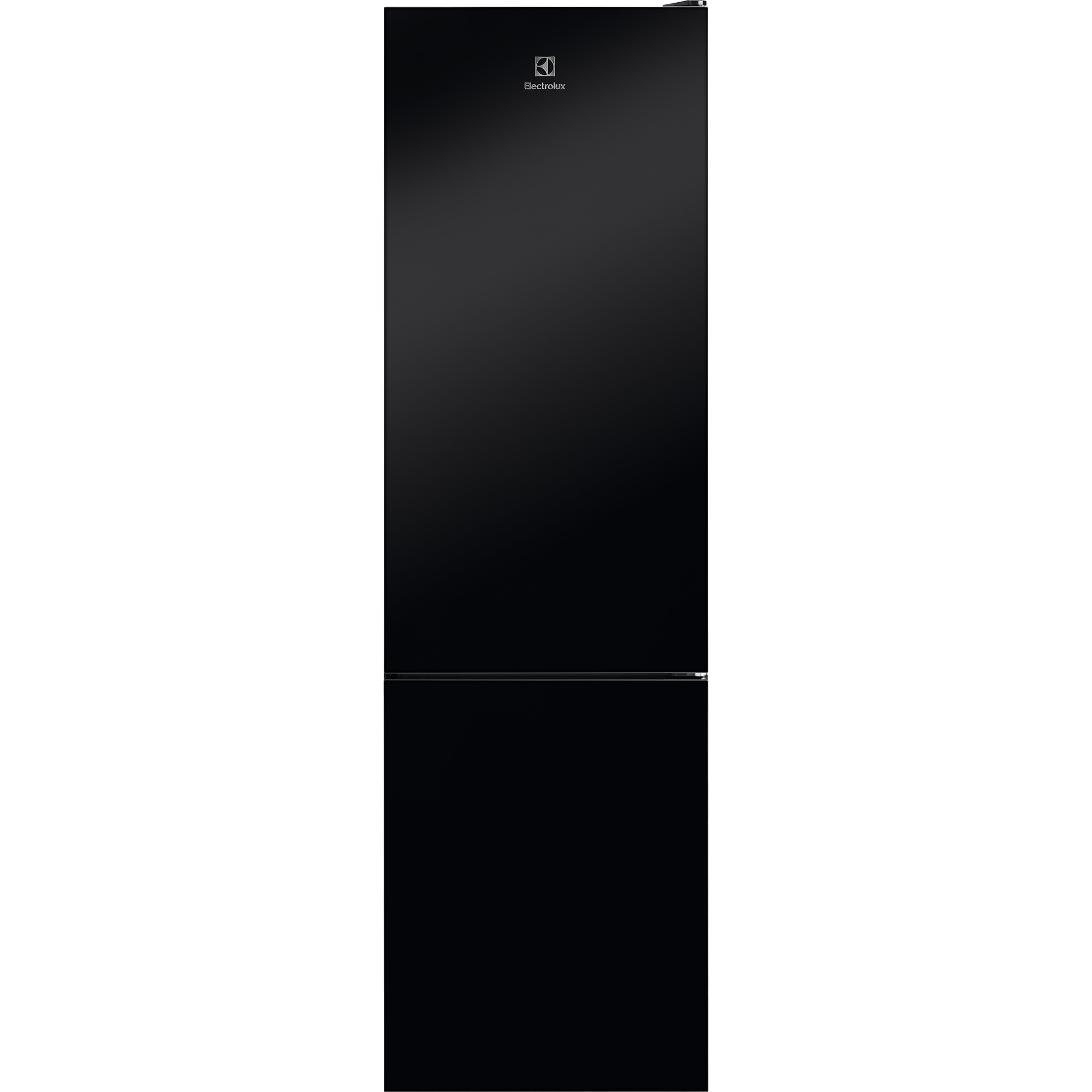 Fotografie Combina frigorifica Electrolux LNT7ME34K1, 360 l, NoFrost, Control electronic, Clasa E, H 201 cm, Sticla neagra