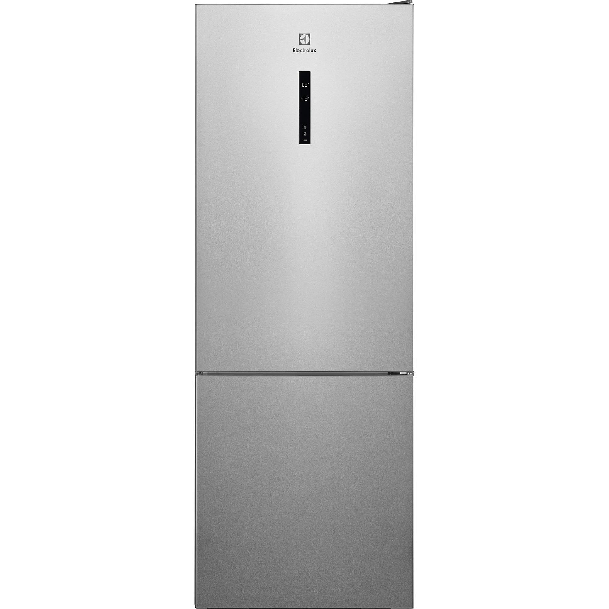 Fotografie Combina frigorifica Electrolux LNT7MF46X2, 461 l, NoFrost, Touch control, Clasa F, H 192 cm, Inox