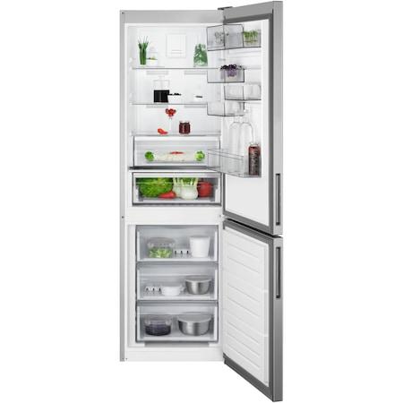 Хладилник с фризер AEG RCB632E5MX, 324 л, NoFrost, Display, Клас A++, В 186 см, Inox