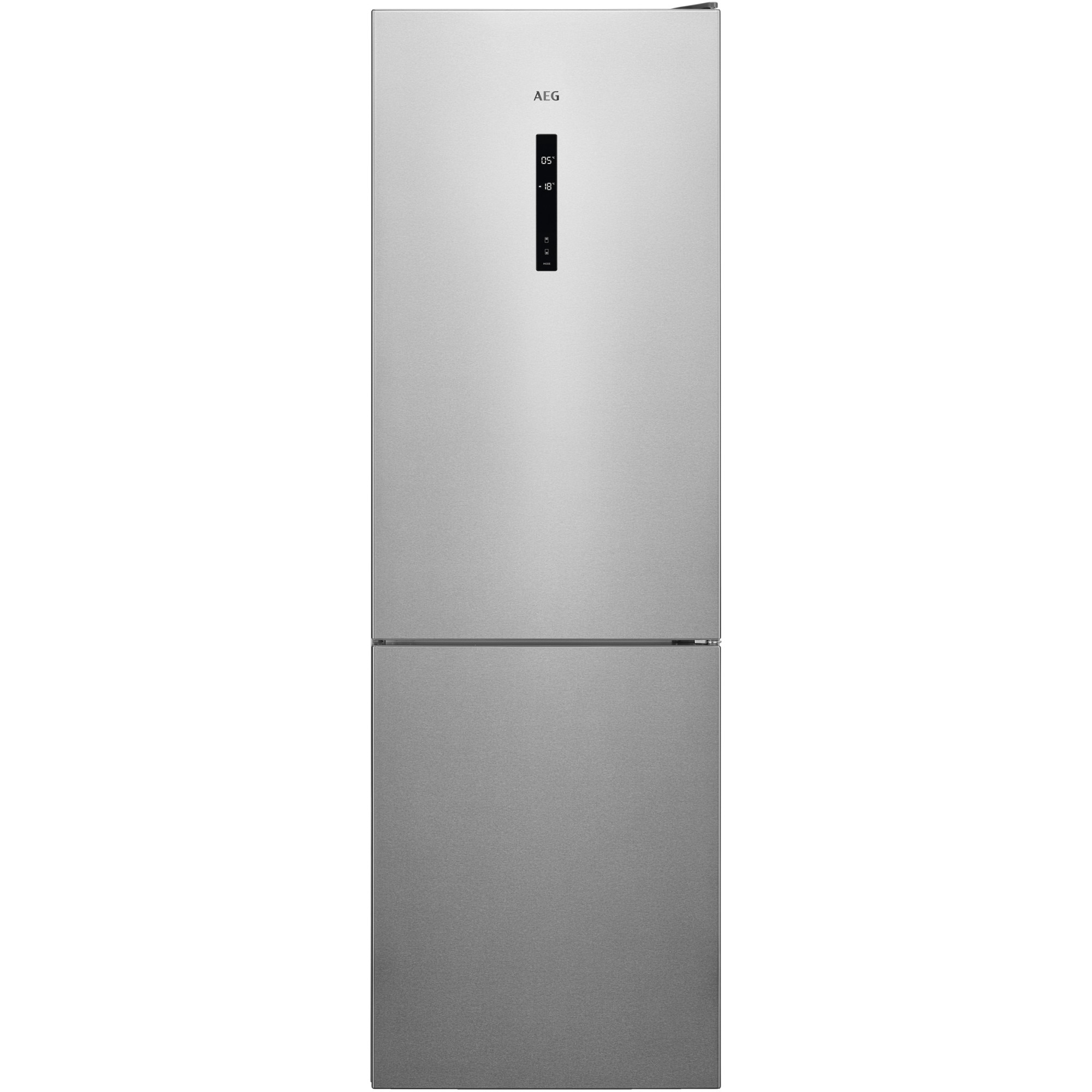 Fotografie Combina frigorifica AEG RCB632E5MX, 324 l, NoFrost, Display, Clasa A++, H 186 cm, Inox