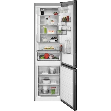 Хладилник с фризер AEG RCB736E5MB, 360 л, NoFrost, Display, Клас A++, В 201 см, Сив