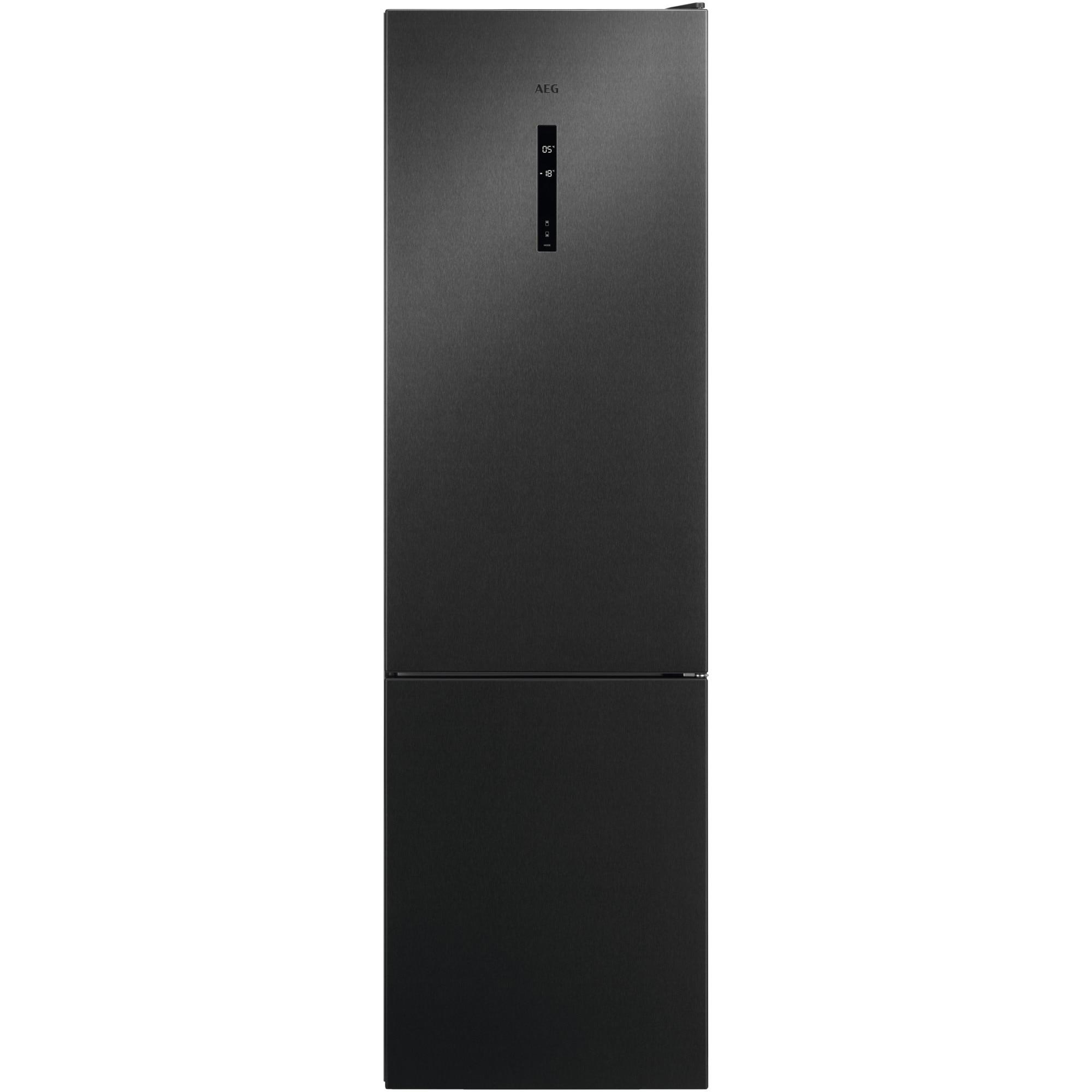 Fotografie Combina frigorifica AEG RCB736E5MB, 360 l, NoFrost, Display, Clasa E, H 201 cm, Gri
