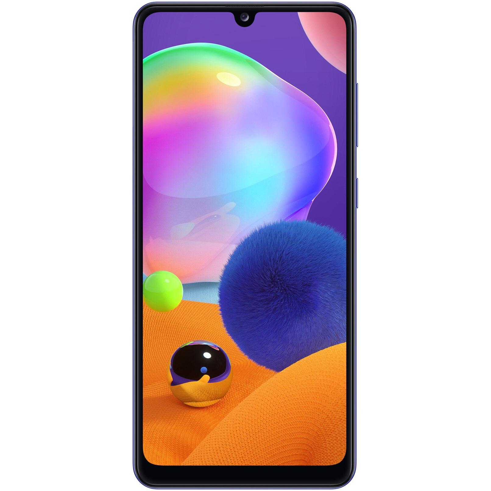 Fotografie Telefon mobil Samsung Galaxy A31, Dual SIM, 64GB, 4G, Prism Crush Blue