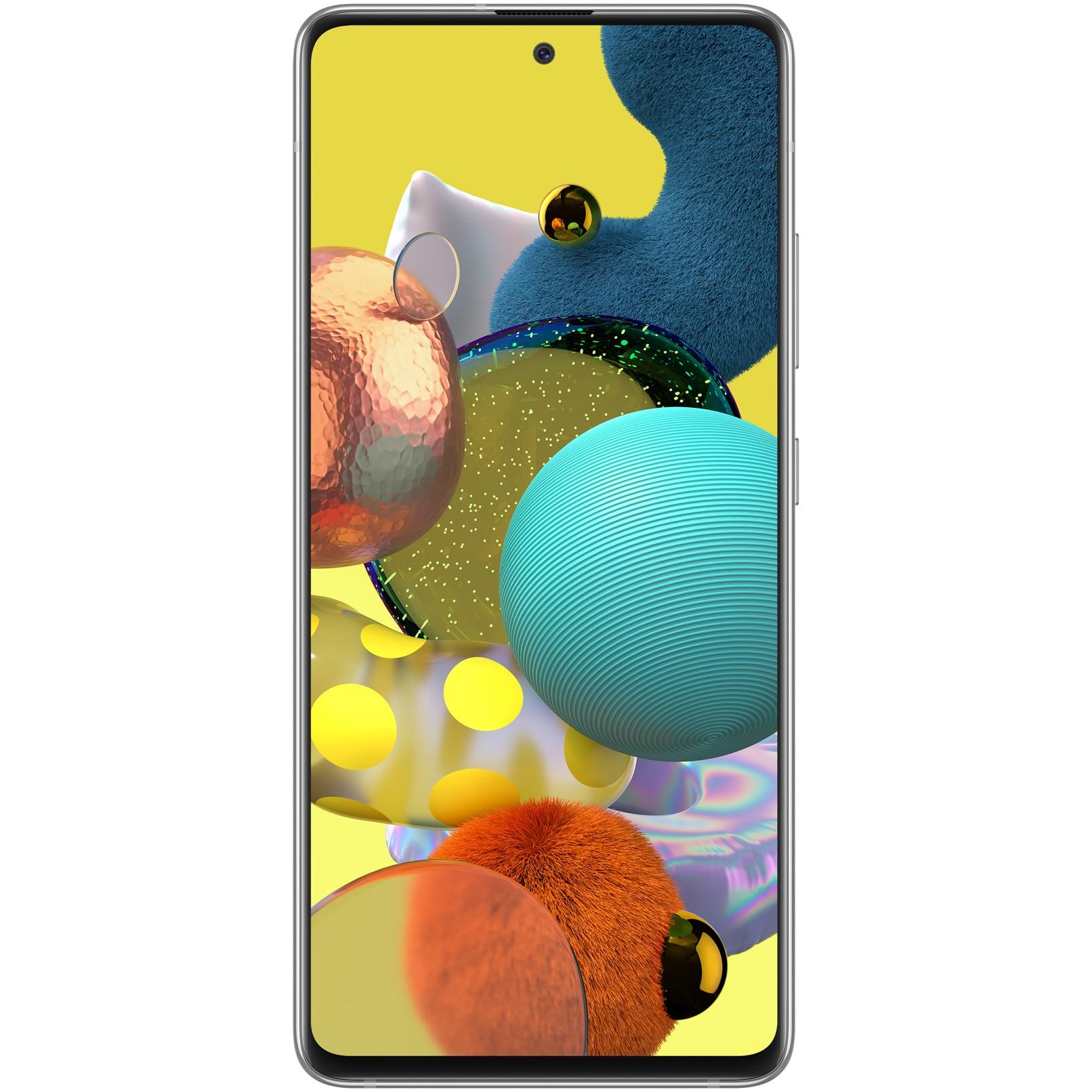 Fotografie Telefon mobil Samsung Galaxy A51, Dual SIM, 128GB, 6GB RAM, 5G, Prism Crush White