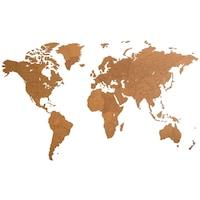 Карта на света за стена Giant MiMi Innovations, дърво, 280х170х0,3 см
