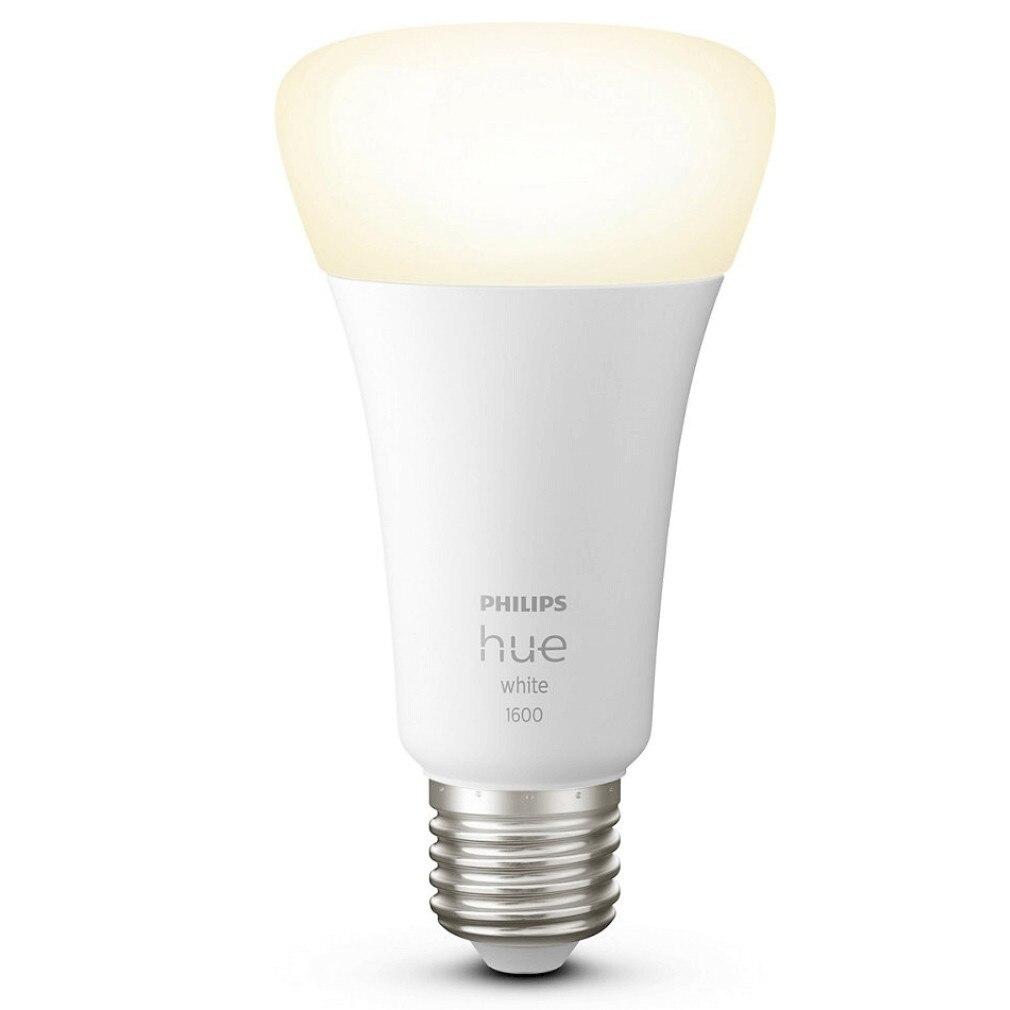 Fotografie Bec LED inteligent Philips Hue, ZigBee Light Link, Bluetooth, E27, 15.5W, 1600 lm, lumina alba calda (2700K)