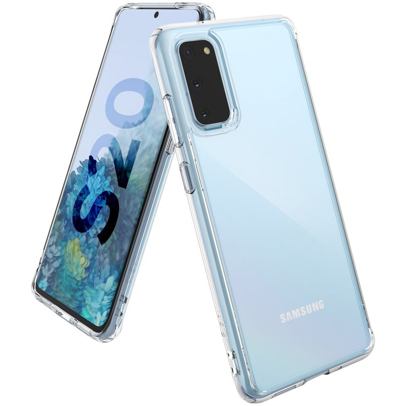 Fotografie Husa de protectie Ringke Fusion pentru Samsung Galaxy S20, Clear