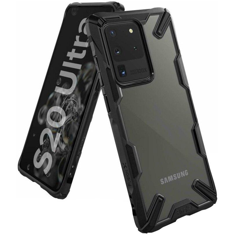 Fotografie Husa de protectie Ringke Fusion X pentru Samsung Galaxy S20 Ultra, Black