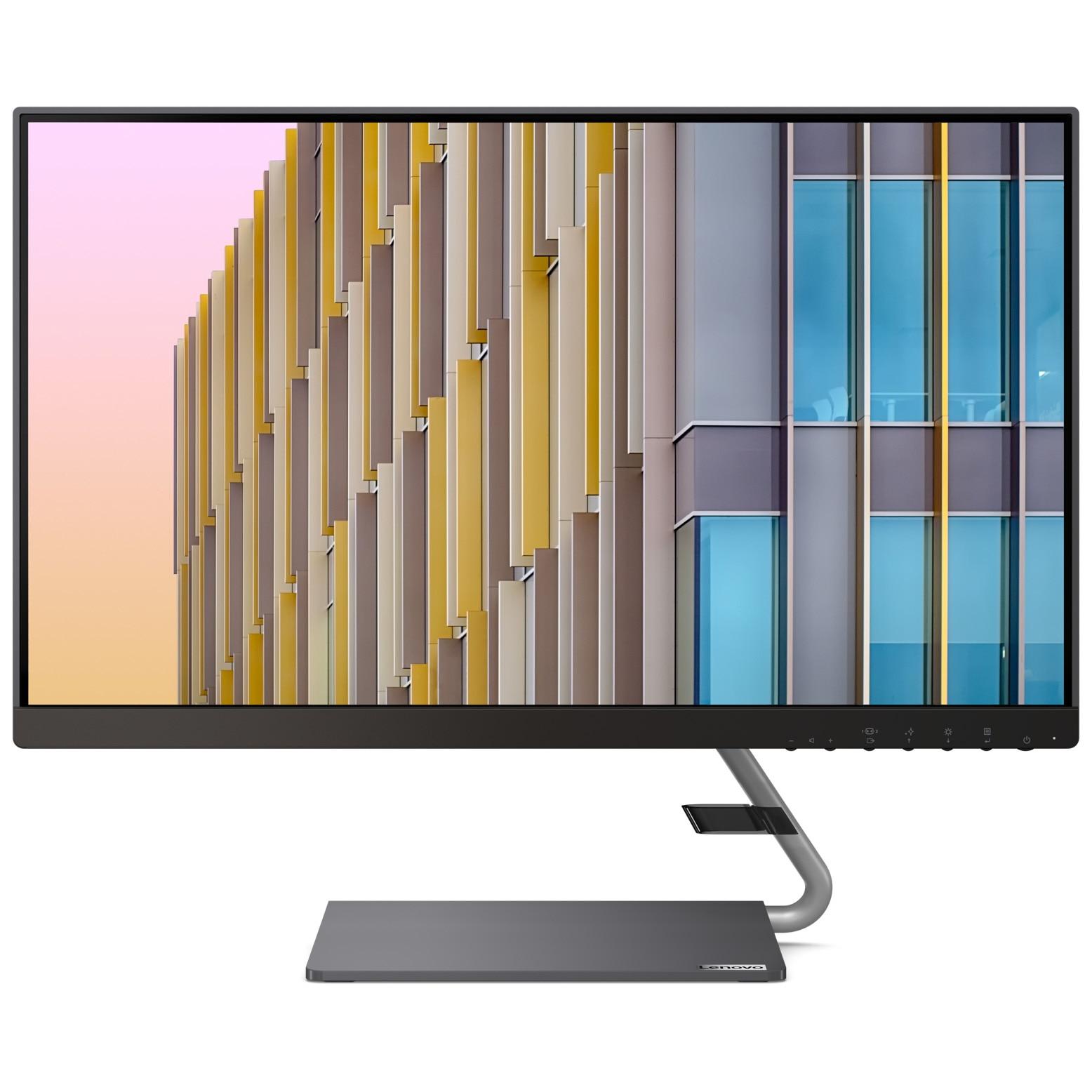 "Fotografie Monitor LED IPS Lenovo, 23.8"", 75 Hz, 4 ms ,HDMI+USB Type-C 3-side borderless with speakers (2 x 3W) - Raven Black / Iron Grey Stand, Q24h-10"