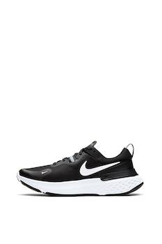 Nike, Обувки за бягане React Miler със светлоотразителни зони, Черен/Бял