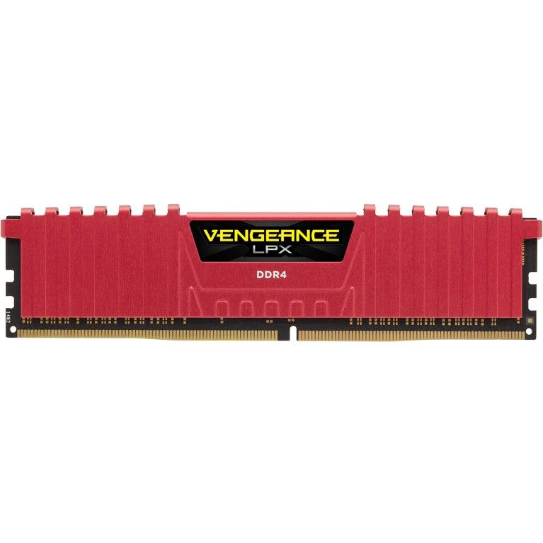 Fotografie Memorie Corsair Vengeance LPX 8GB DIMM, DDR4, 2400MHz, CL14, 1.2V, XMP 2.0, Red