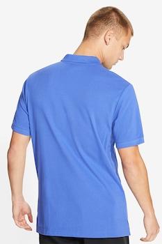 Nike, Tricou polo cu logo brodat, Albastru azur