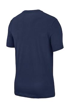 Nike, Tricou de bumbac Icon Futura, Bleumarin/Alb