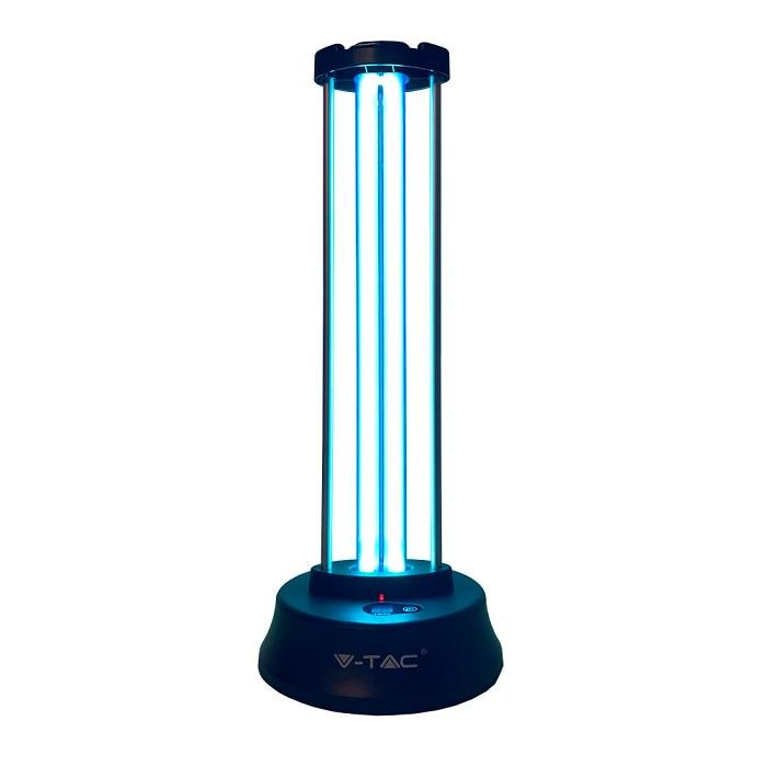 Fotografie Lampa bactericida cu dubla sterilizare Ultraviolete si Ozon, 38W, cu senzor de prezenta si display pentru timer