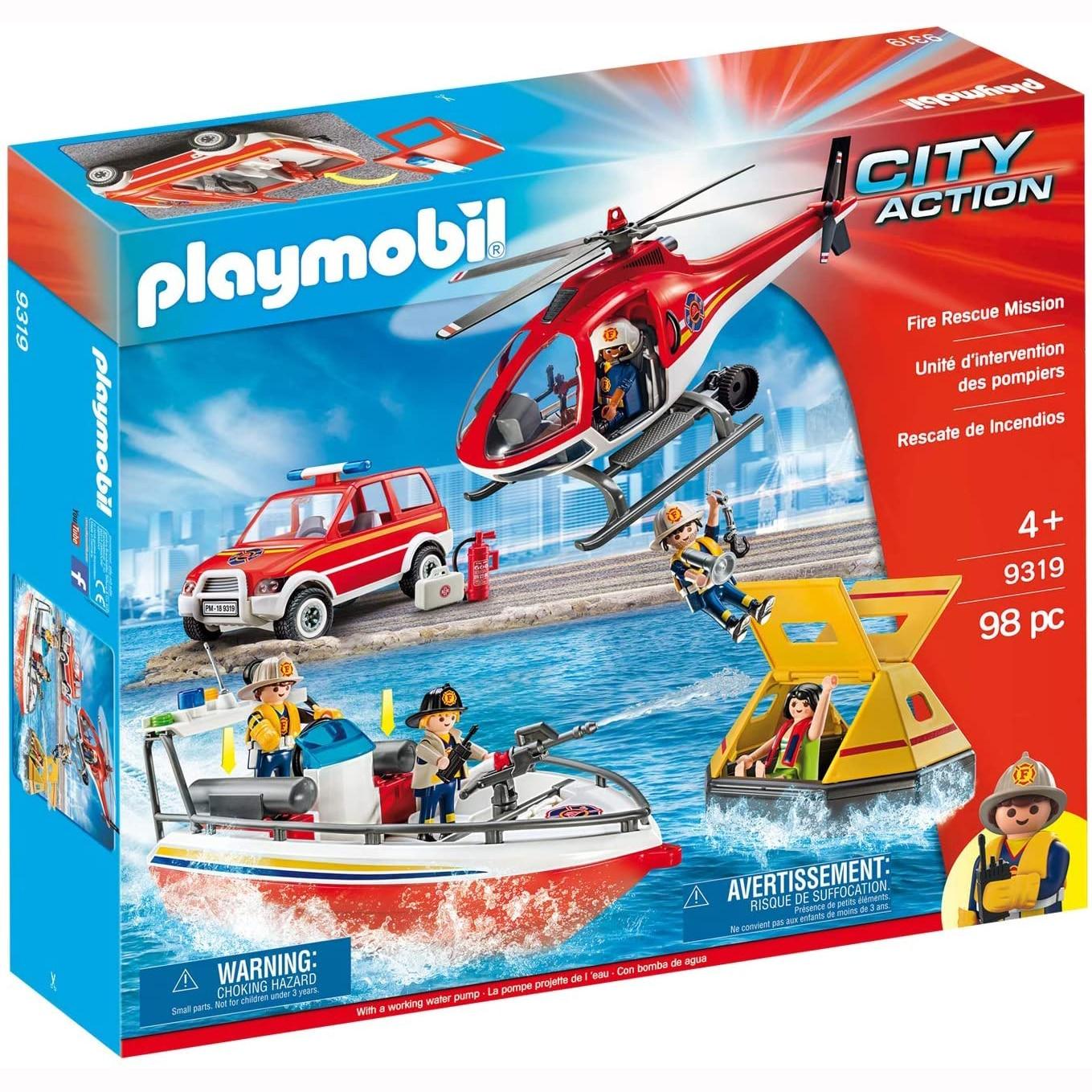 Fotografie Playmobil City Action - Misiunea de salvare a pompierilor