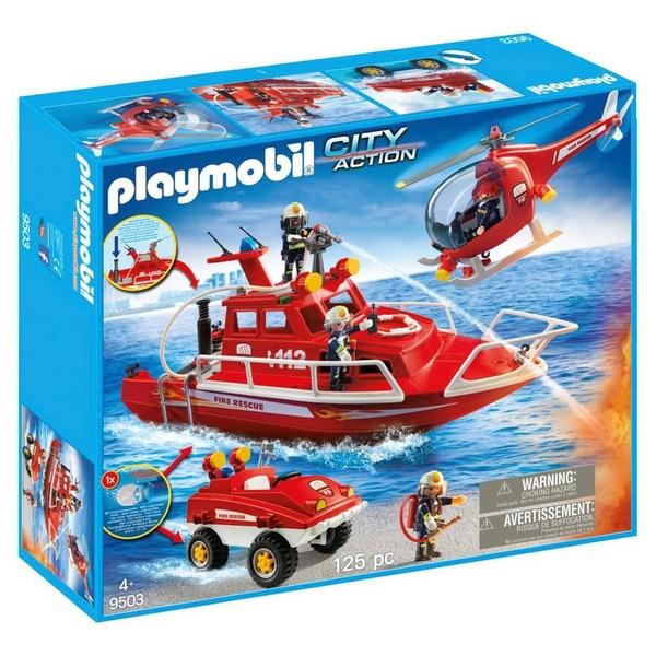 Fotografie Playmobil City Action - Vechicule de pompieri cu motor