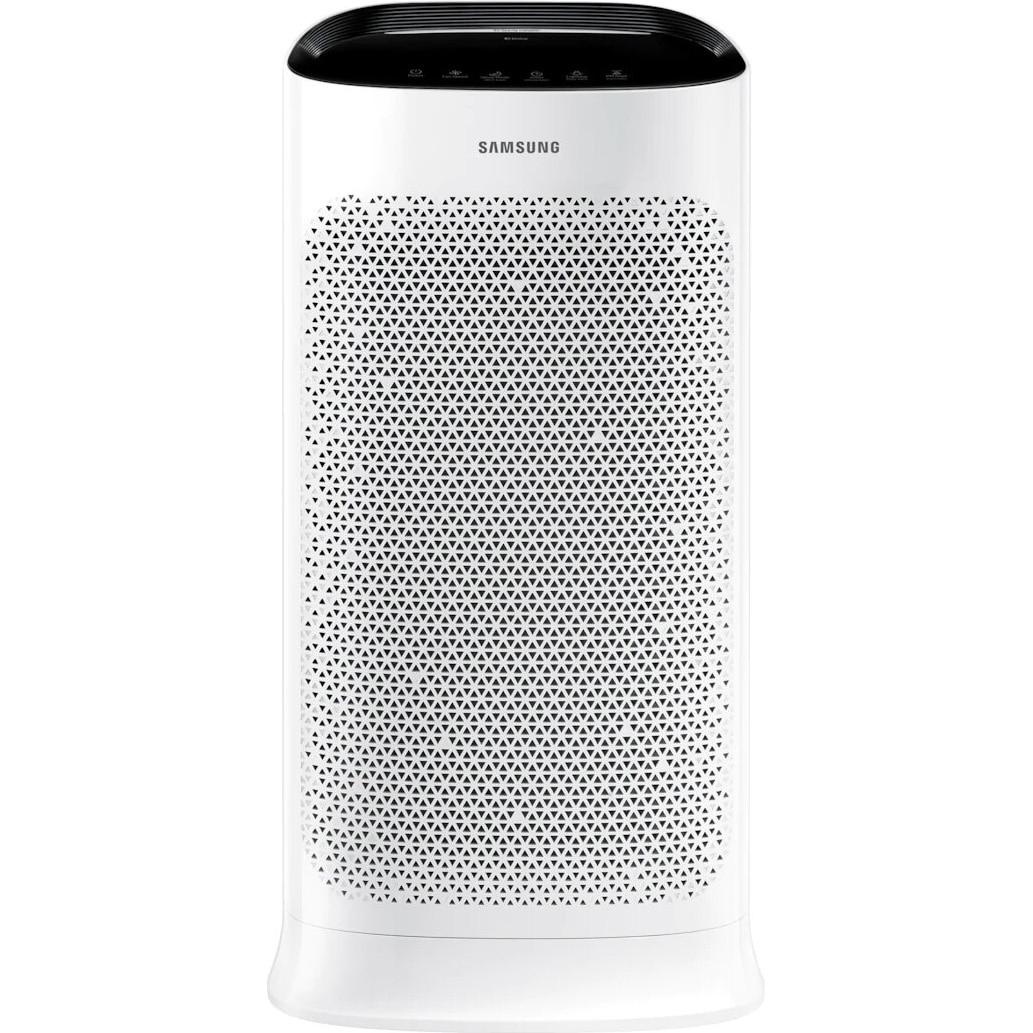 Fotografie Purificator de aer Samsung AX60R5080WD/EU, Senzor praf, Senzor de miros, Pre-filtru, Filtru praf, Filtru dezodorizant, Acoperire 60m2, Mod Auto, Timer, Indicator numeric PM1.0, PM2.5, PM10, Wi-Fi, Alb
