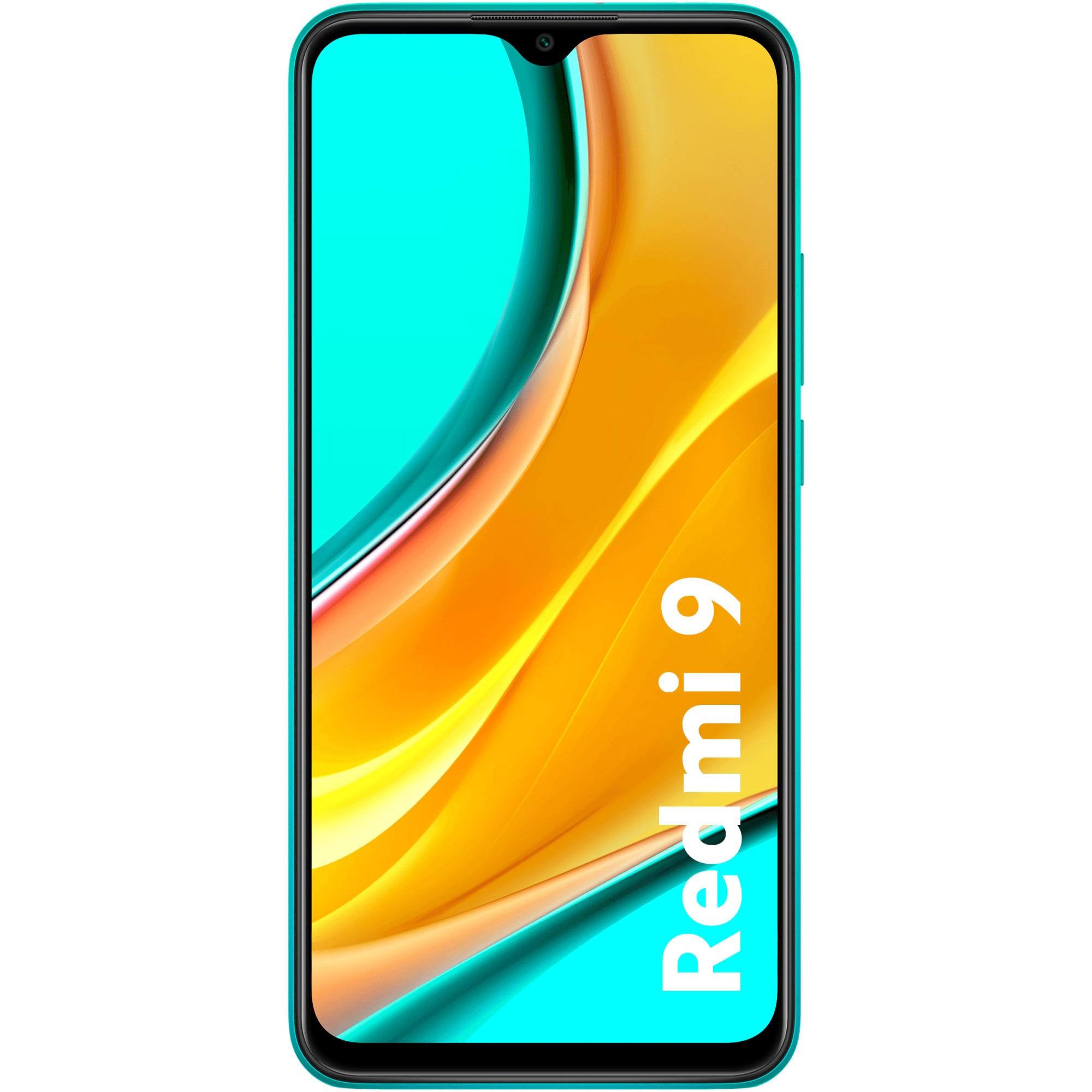 Fotografie Telefon mobil Xiaomi Redmi 9, Dual SIM, 64GB, 4G, Ocean Green