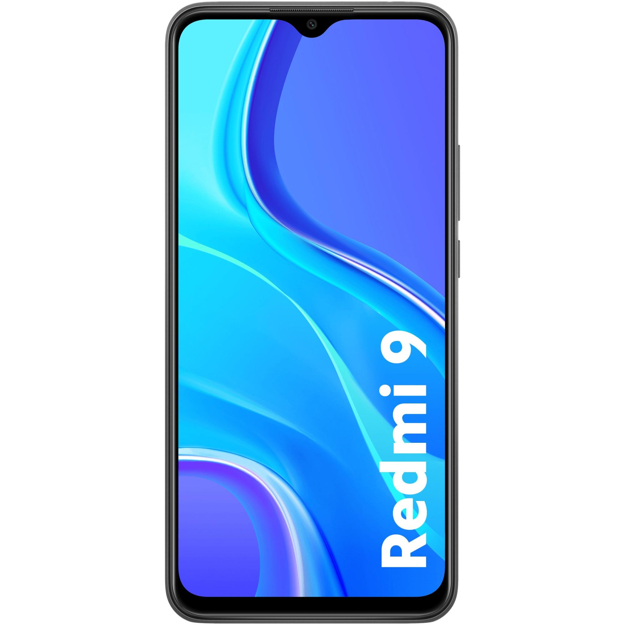Fotografie Telefon mobil Xiaomi Redmi 9, Dual SIM, 32GB, 3GB RAM, 4G, Carbon Grey