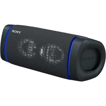 Преносима тонколона Sony SRS-XB33B, Extra Bass, Светлинен ефект, Водоустойчивa IP67, Bluetooth 5.0, NFC, Автономност 24 часа, Микрофон, USB Type-C, Черен