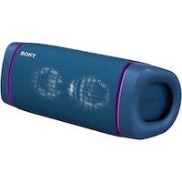 Boxa portabila Sony SRS-XB33L, Extra Bass, Efect de lumini, Rezistenta la apa IP67, Bluetooth 5.0, NFC, Autonomie 24 ore, Microfon, USB Type-C, Albastru