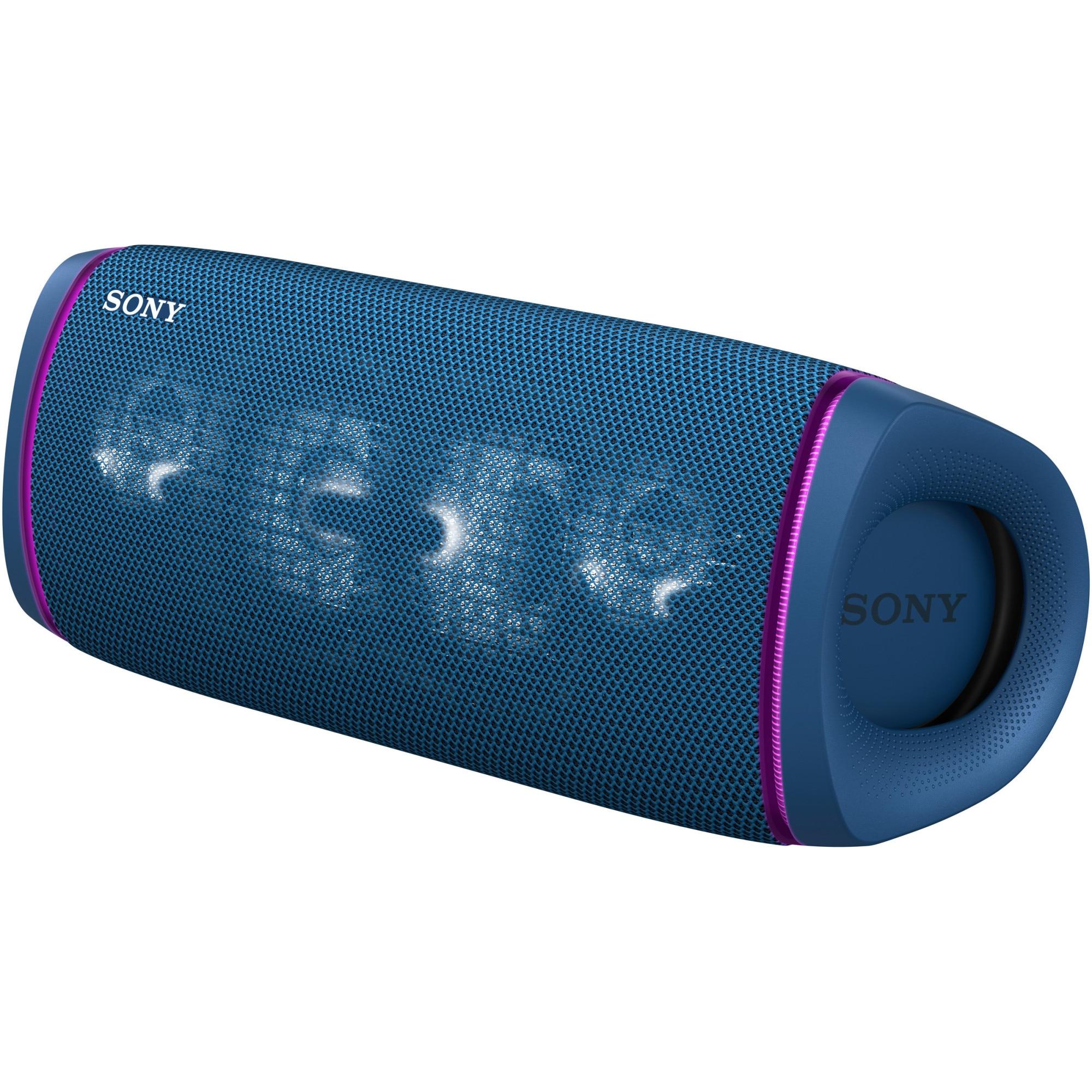 Fotografie Boxa portabila Sony SRS-XB43L, Extra Bass, Efect de lumini, Rezistenta la apa IP67, Bluetooth 5.0, NFC, Autonomie 24 ore, Microfon, USB Type-C, Albastru