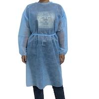 10 eldobható látogatói ruha készlet, kék, 23 gr./nm, univerzális méretű
