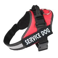 Нагръдник за куче, Червен, Размер S, 7-15 кг
