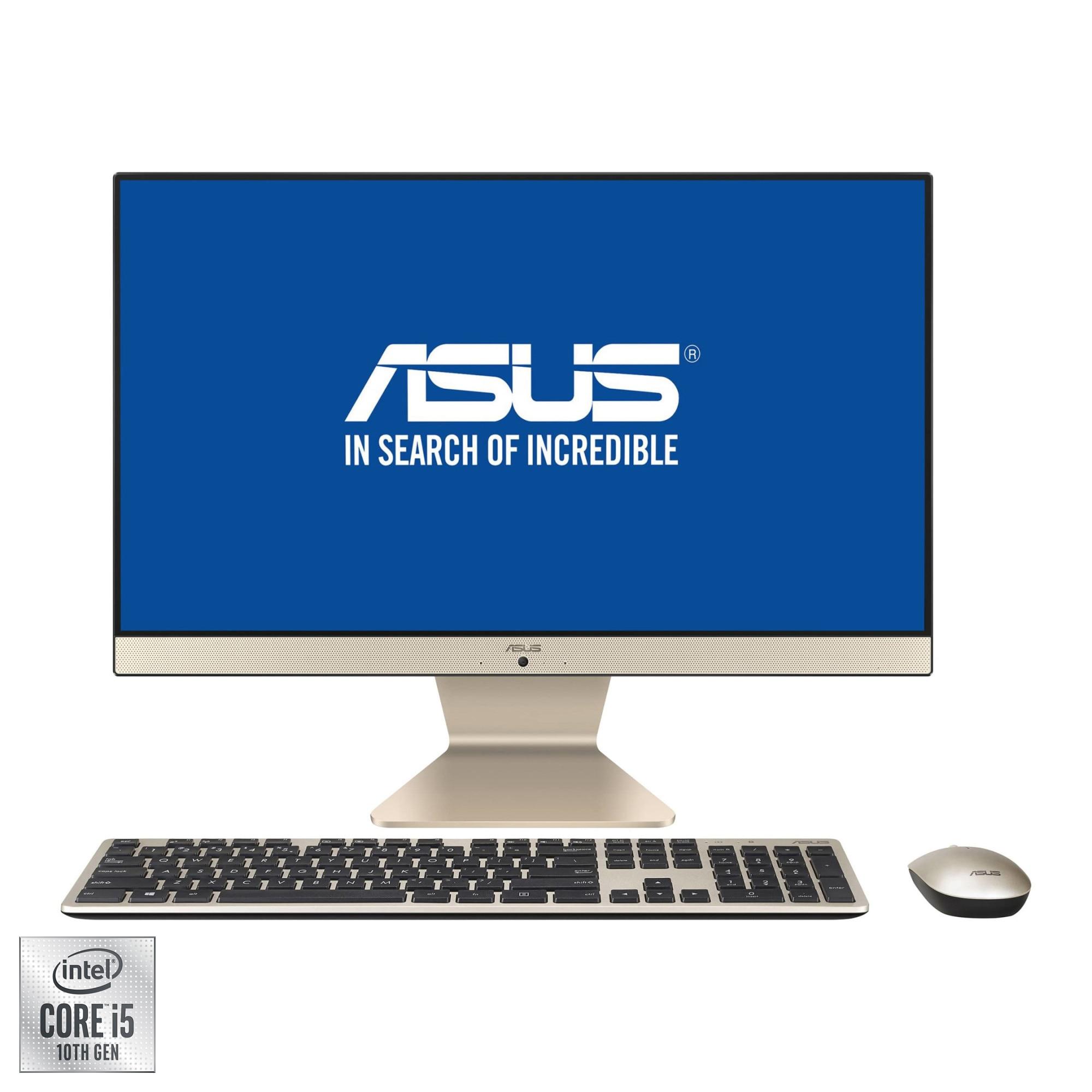 "Fotografie Sistem All-in-One ASUS V222FAK cu procesor Intel® Core™ i5-10210U pana la 4.20 GHz, Comet Lake, 21.5"", Full HD, IPS, 8GB DDR4, 1TB HDD + 128GB SSD, Intel® UHD Graphics, Endless OS"