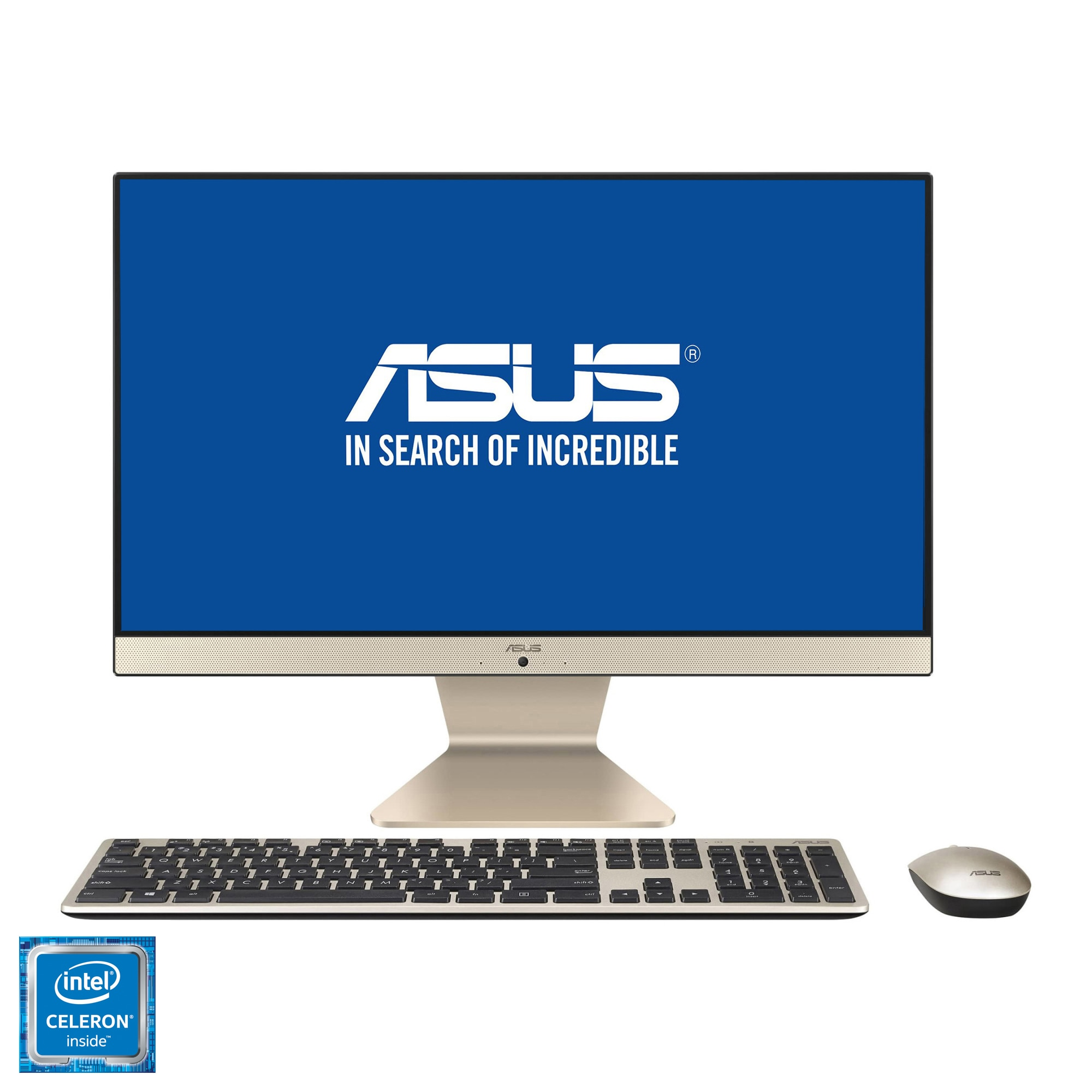 "Fotografie Sistem All-in-One ASUS V222GAK cu procesor Intel® Celeron® J4005 pana la 2.70 GHz, Gemini Lake, 21.5"", Full HD, IPS, 4GB DDR4, 1TB HDD, Intel® UHD Graphics 600, Endless OS"
